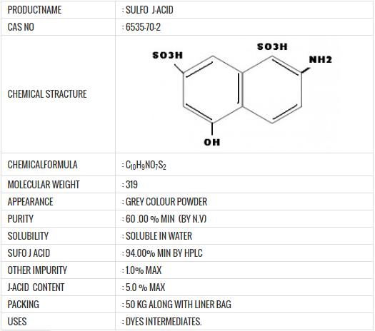 sulpho-j-acid